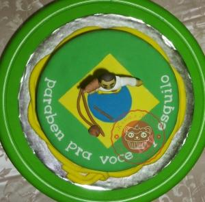 Kuma's kitchen capoeira cake fondant